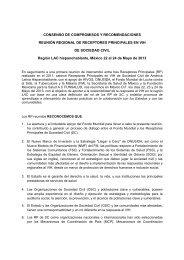 consenso de compromisos y recomendaciones - Proyecto - Funsalud
