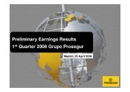 Results Presentation First Quarter 2008 - Prosegur