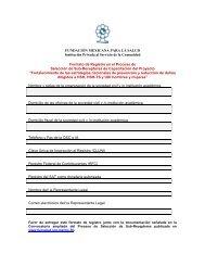 FUNDACIÓN MEXICANA PARA LA SALUD Institución ... - Proyecto