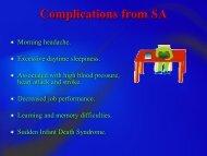 Complications from SA - South Carolina Dental Hygiene Association