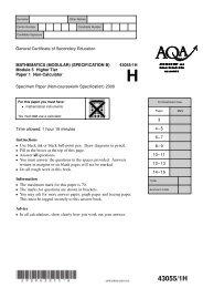 Paper 1 Non-Calc Module 5 Spec - The Grange School Blogs