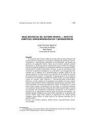 BASES BIOLÓGICAS DEL AUTISMO INFANTIL. I. ASPECTOS ...