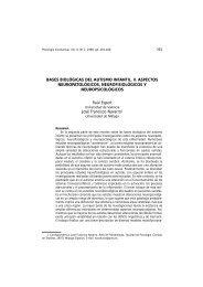 BASES BIOLÓGICAS DEL AUTISMO INFANTIL. II. ASPECTOS ...
