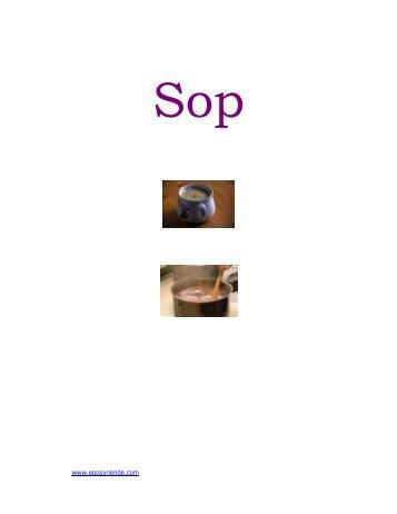 Sop Resepte - Peterjasie