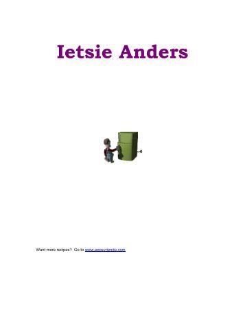 Ietsie Anders Resepte - Peterjasie