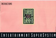 NEC TurboGrafx-16 Owners Manual (PDF) - Video Game Console ...