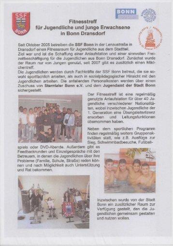 Eigenbericht, 21.01.2010 Einweihung des neuen SSF Jugendraums ...