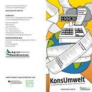 Projektflyer - Konsum Welt
