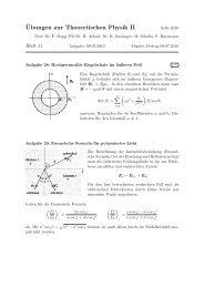 ¨Ubungen zur Theoretischen Physik II - Theoretische Physik 1