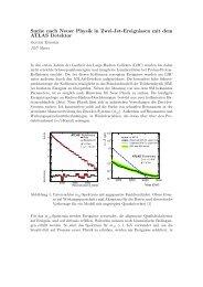 Suche nach Neuer Physik in Zwei-Jet-Ereignissen mit dem ATLAS ...