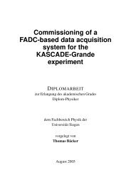 Commissioning of a FADC-based data acquisition system in the ...