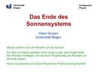 Das Ende des Sonnensystems - Universität Siegen