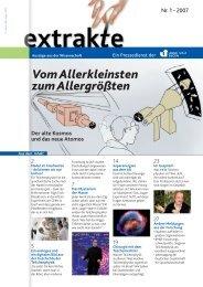 Beschreibung in Extrakte 01/07 - Experimentelle Teilchenphysik