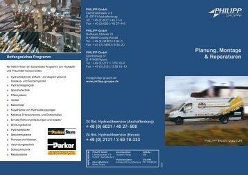 Planung, Montage & Reparaturen - PHILIPP Gruppe