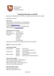 Závěrečný účet obce za rok 2012 - Dolní Nětčice