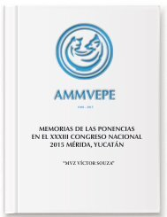 Memorias XXXIII Congreso Nacional AMMVEPE 2015