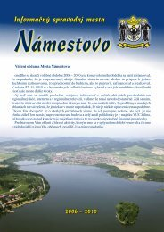Informačný spravodaj mesta - Mesto Námestovo