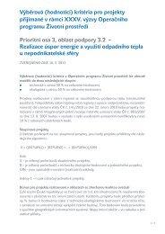 Výběrová (hodnotící) kritéria pro projekty přijímané v rámci XXXV ...