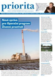 Priorita 9/2010 - Operační program Životní prostředí
