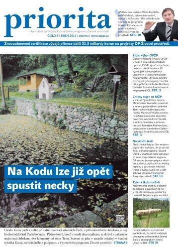 Číslo 9/2012 - Operační program Životní prostředí