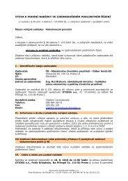 Výzva k podání nabídky a Zadávací dokumentace včetně příloh