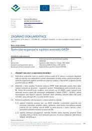 ZADÁVACÍ DOKUMENTACE Technicko-organizační zajištění ...