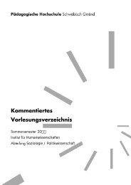 Kommentiertes Vorlesungsverzeichnis