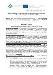 Směrnice MŽP č. 4/2010 - Příloha 2