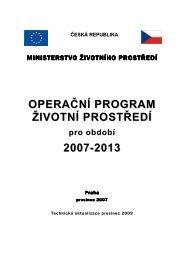 Programový dokument OPŽP - Operační program Životní prostředí