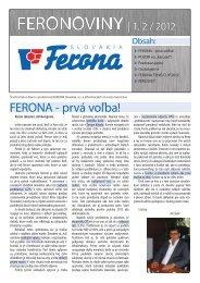 feronoviny (PDF) - FERONA Slovakia, as
