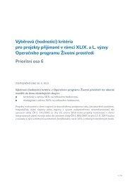 XLIX. a L. výzva - Operační program Životní prostředí