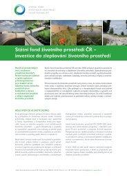Investice do životního prostředí - Operační program Životní prostředí