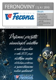FERONOVINY   3, 4 / 2010 - FERONA Slovakia, as
