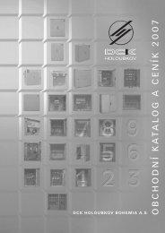 ceník (*.PDF - 0,7MB)... - DCK Holoubkov Bohemia as