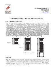 návod k používání a montáži skříní a pilířů apz - DCK Holoubkov ...