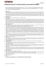 všeobecné dodací, platební, záruční a reklamační podmínky - ALTEKO