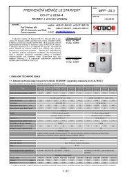 FREKVENČNÍ MĚNIČE LS STARVERT MPP - 25.3 iC5 ... - ALTEKO