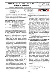 RADIÁLNÍ VENTILÁTORY RFC a RFE MPP - 10.9 S ... - ALTEKO