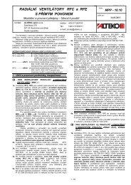 RADIÁLNÍ VENTILÁTORY RFC a RFE S PŘÍMÝM ... - ALTEKO