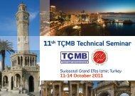 11th TÇMB Technical Seminar
