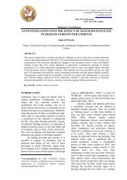 an investigation into the effect of magnesium sulfate in ... - uni-sz.bg