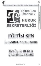hukuk sekretrliği - Eğitim ve Bilim Emekçileri Sendikası İstanbul 7 ...