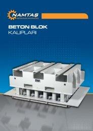 BETON BLOK KALIPLARI - NAMTAS BETON BLOK MAKiNALARI