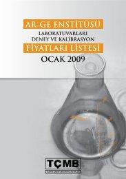 ocak 2009 ar-ge enstitüsü fiyatları listesi - Türkiye Çimento ...
