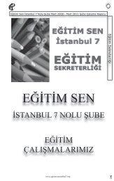 eğitim sekreterliği - Eğitim ve Bilim Emekçileri Sendikası İstanbul 7 ...