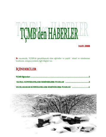 TÇMB'den Haberler Bülteni - Türkiye Çimento Müstahsilleri Birliği