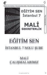 mali sekreterlik - Eğitim ve Bilim Emekçileri Sendikası İstanbul 7 ...