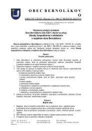 Všeobecne záväzné nariadenie Obce Bernolákovo číslo 5/2011 ...