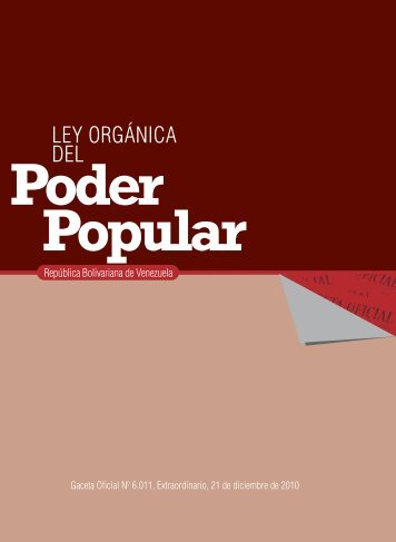 Ley Orgánica del Poder Popular - MinCI