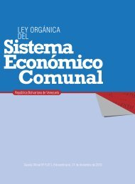 Ley Orgánica del Sistema Económico Comunal - MinCI